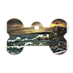 Bridget s Lighthouse   by Ave Hurley of ArtRevu ~ Dog Tag Bone (One Side)