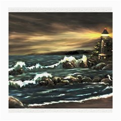 bridget s Lighthouse   By Ave Hurley Of Artrevu   Medium Glasses Cloth (2 Sides)