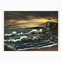 Bridget s Lighthouse   by Ave Hurley of ArtRevu ~ Large Glasses Cloth (2 Sides)
