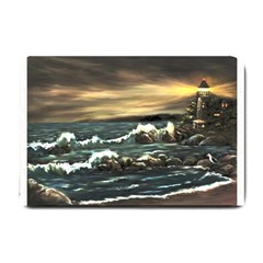 Bridget s Lighthouse   by Ave Hurley of ArtRevu ~ Small Doormat
