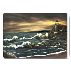 Bridget s Lighthouse   by Ave Hurley of ArtRevu ~ Large Doormat