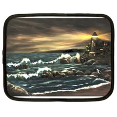 Bridget s Lighthouse   by Ave Hurley of ArtRevu ~ Netbook Case (Large)