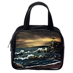 Bridget s Lighthouse   by Ave Hurley of ArtRevu ~ Classic Handbag (One Side)