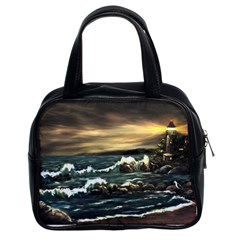 Bridget s Lighthouse   by Ave Hurley of ArtRevu ~ Classic Handbag (Two Sides)