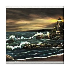 bridget s Lighthouse   By Ave Hurley Of Artrevu   Face Towel