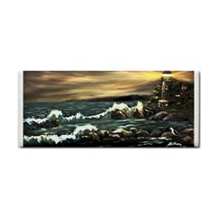 Bridget s Lighthouse   by Ave Hurley of ArtRevu ~ Hand Towel