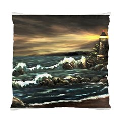 bridget s Lighthouse   By Ave Hurley Of Artrevu   Standard Cushion Case (two Sides)