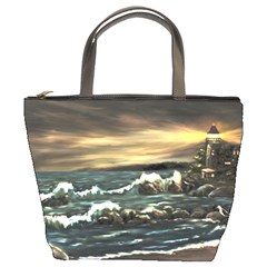 Bridget s Lighthouse   by Ave Hurley of ArtRevu ~ Bucket Bag