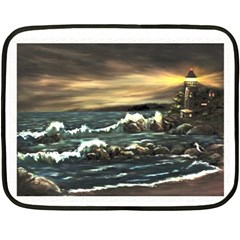 bridget s Lighthouse   By Ave Hurley Of Artrevu   Double Sided Fleece Blanket (mini)