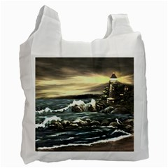 bridget s Lighthouse   By Ave Hurley Of Artrevu   Recycle Bag (one Side)