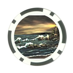 Bridget s Lighthouse   by Ave Hurley of ArtRevu ~ Poker Chip Card Guard (10 pack)