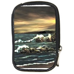 Bridget s Lighthouse   by Ave Hurley of ArtRevu ~ Compact Camera Leather Case