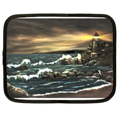 Bridget s Lighthouse   by Ave Hurley of ArtRevu ~ Netbook Case (XL)