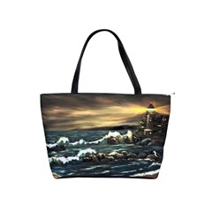 Bridget s Lighthouse   by Ave Hurley of ArtRevu ~ Classic Shoulder Handbag