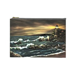 bridget s Lighthouse   By Ave Hurley Of Artrevu   Cosmetic Bag (large)
