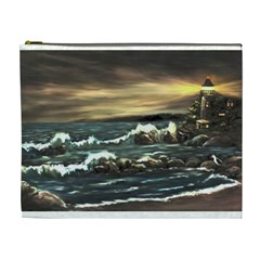 Bridget s Lighthouse   by Ave Hurley of ArtRevu ~ Cosmetic Bag (XL)