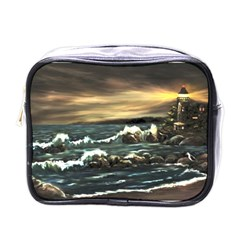 Bridget s Lighthouse   by Ave Hurley of ArtRevu ~ Mini Toiletries Bag (One Side)