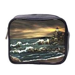 Bridget s Lighthouse   by Ave Hurley of ArtRevu ~ Mini Toiletries Bag (Two Sides)