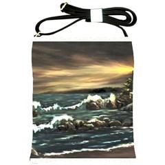 Bridget s Lighthouse   by Ave Hurley of ArtRevu ~ Shoulder Sling Bag