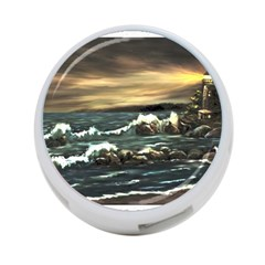bridget s Lighthouse   By Ave Hurley Of Artrevu   4 Port Usb Hub (two Sides)