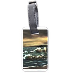 bridget s Lighthouse   By Ave Hurley Of Artrevu   Luggage Tag (two Sides)