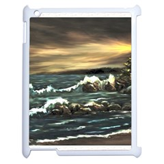 Bridget s Lighthouse   by Ave Hurley of ArtRevu ~ Apple iPad 2 Case (White)