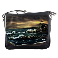Bridget s Lighthouse   by Ave Hurley of ArtRevu ~ Messenger Bag