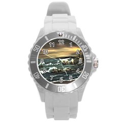 bridget s Lighthouse   By Ave Hurley Of Artrevu   Round Plastic Sport Watch (l)
