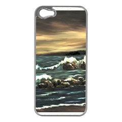 Bridget s Lighthouse   by Ave Hurley of ArtRevu ~ Apple iPhone 5 Case (Silver)
