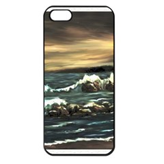 Bridget s Lighthouse   by Ave Hurley of ArtRevu ~ Apple iPhone 5 Seamless Case (Black)
