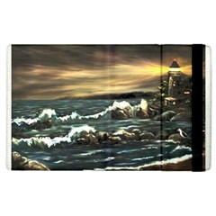 bridget s Lighthouse   By Ave Hurley Of Artrevu   Apple Ipad 2 Flip Case