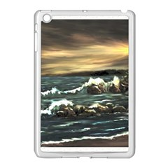 Bridget s Lighthouse   by Ave Hurley of ArtRevu ~ Apple iPad Mini Case (White)