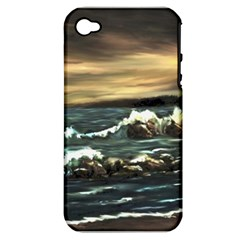 Bridget s Lighthouse   by Ave Hurley of ArtRevu ~ Apple iPhone 4/4S Hardshell Case (PC+Silicone)