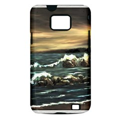 Bridget s Lighthouse   by Ave Hurley of ArtRevu ~ Samsung Galaxy S II i9100 Hardshell Case (PC+Silicone)