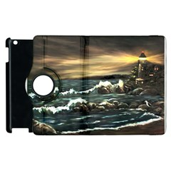 Bridget s Lighthouse   by Ave Hurley of ArtRevu ~ Apple iPad 3/4 Flip 360 Case