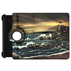 bridget s Lighthouse   By Ave Hurley Of Artrevu   Kindle Fire Hd Flip 360 Case
