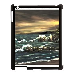 Bridget s Lighthouse   by Ave Hurley of ArtRevu ~ Apple iPad 3/4 Case (Black)
