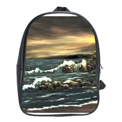 bridget s Lighthouse   By Ave Hurley Of Artrevu   School Bag (xl)