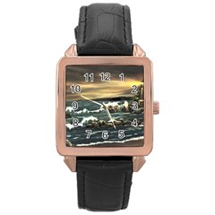 bridget s Lighthouse   By Ave Hurley Of Artrevu   Rose Gold Leather Watch