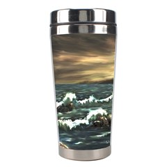 Bridget s Lighthouse   by Ave Hurley of ArtRevu ~ Stainless Steel Travel Tumbler