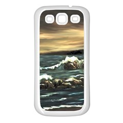bridget s Lighthouse   By Ave Hurley Of Artrevu   Samsung Galaxy S3 Back Case (white)