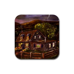 Camp Verde   by Ave Hurley of ArtRevu ~ Rubber Coaster (Square)