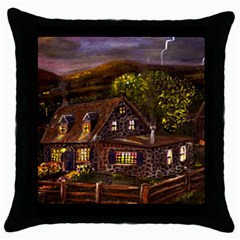 Camp Verde   by Ave Hurley of ArtRevu ~ Throw Pillow Case (Black)