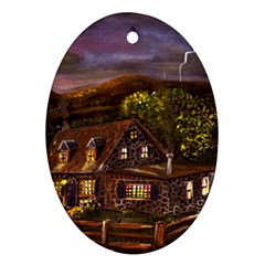 Camp Verde   by Ave Hurley of ArtRevu ~ Oval Ornament (Two Sides)