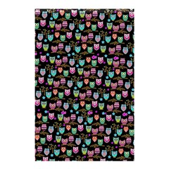 Happy Owls Shower Curtain 48  X 72  (small)