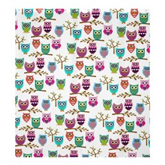 happy owls Shower Curtain 66  x 72  (Large)