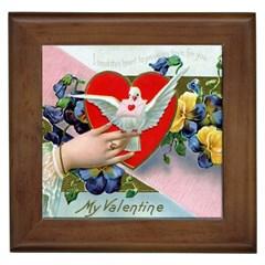 Vintage Valentine Framed Ceramic Tile