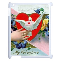 Vintage Valentine Apple iPad 2 Case (White)