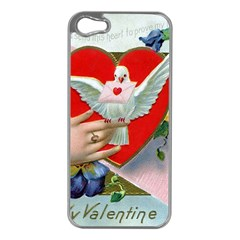 Vintage Valentine Apple iPhone 5 Case (Silver)