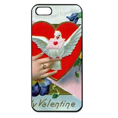 Vintage Valentine Apple iPhone 5 Seamless Case (Black)